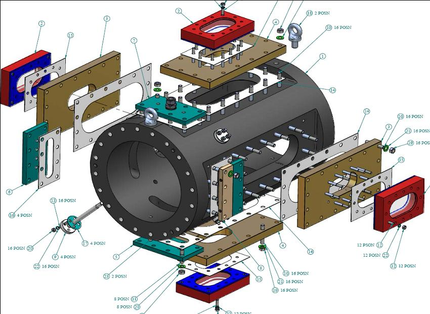 Optical Combustion Measurement Section